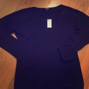 NWT. EXPRESS Black, sparkly sweater